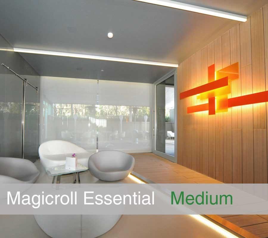TENDA MAGICROLL ROUND su misura con tessuto filtrante light taglia M