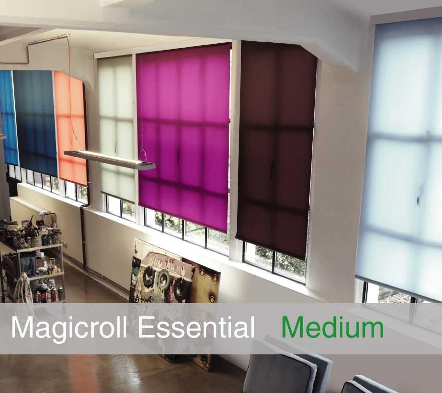 Tenda MAGICROLL Essential su misura con tessuto filtrante taglia M