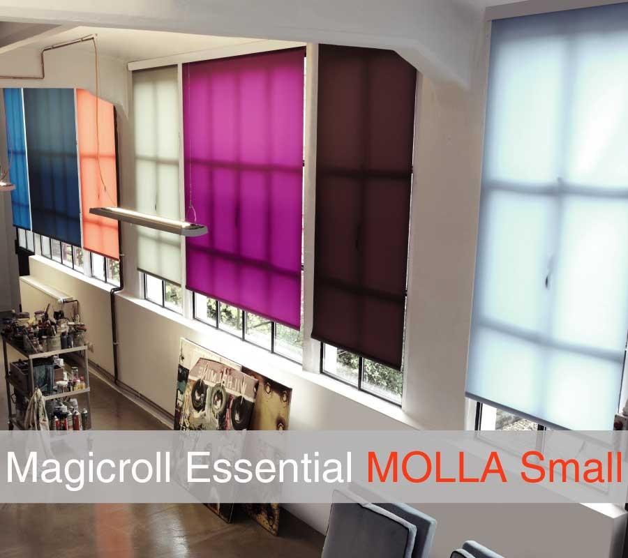 Tenda MAGICROLL Essential molla su misura con tessuto filtrante taglia S