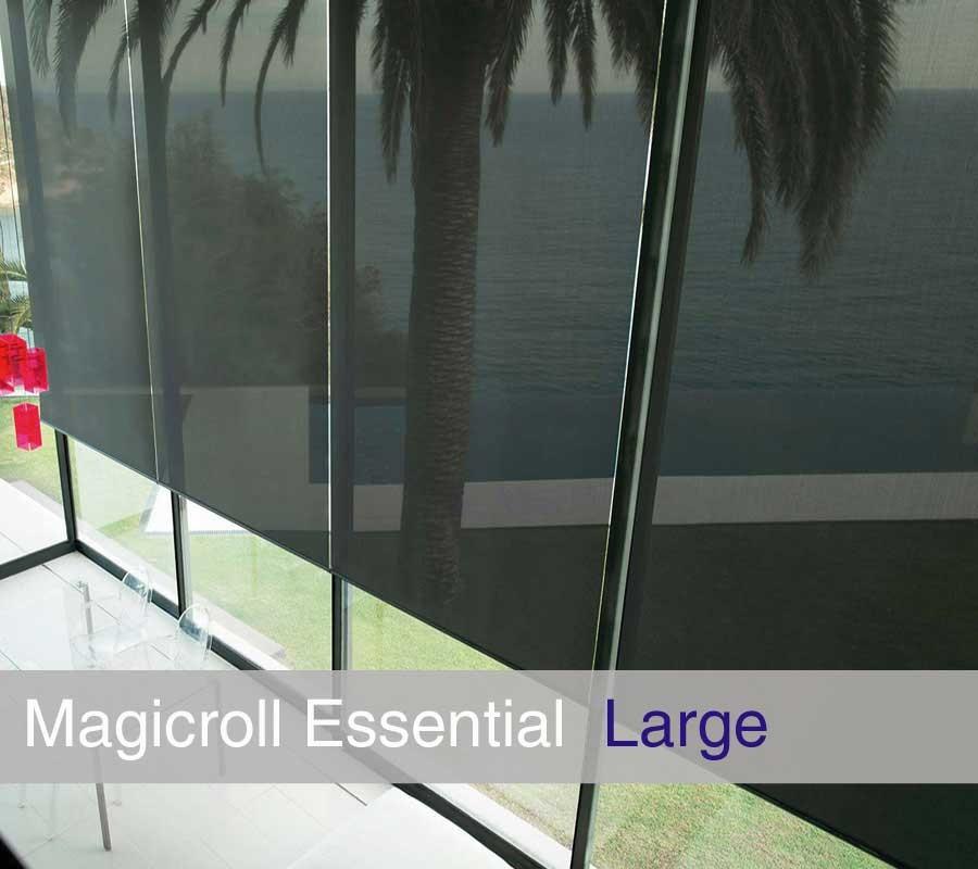 Tenda MAGICROLL Essential MOTOR su misura con tessuto screen taglia L